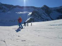 PRACTICE skiing in Huesca