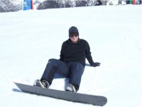 First steps in the world of snowboarding