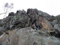 escalada en roca vertical
