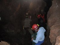 Practice caving in Huesca
