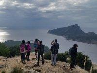 徒步旅行毗邻巴塞罗那海岸