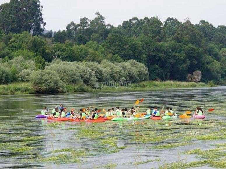 De Caldelas a Tui en kayak