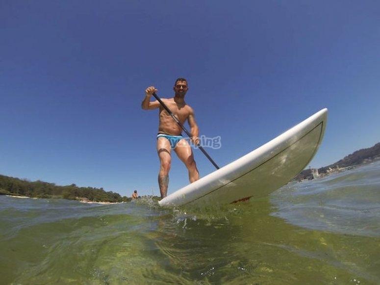Paddle surf en Sanxenxo