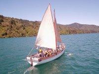 sailing on a sailboat