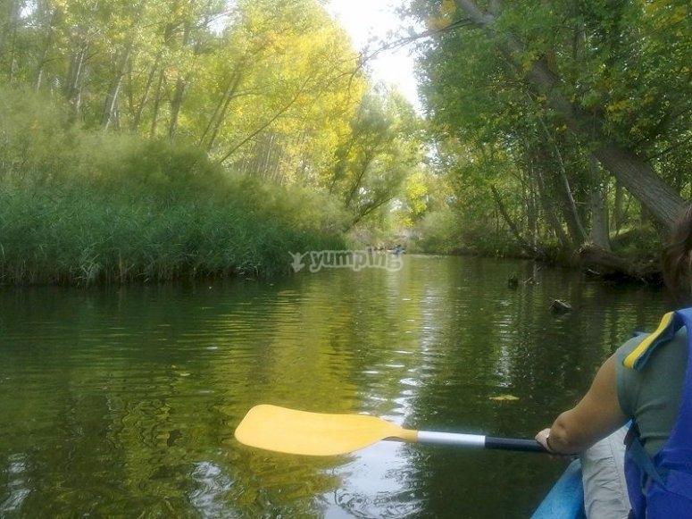 Navega en piragua en el río Duratón