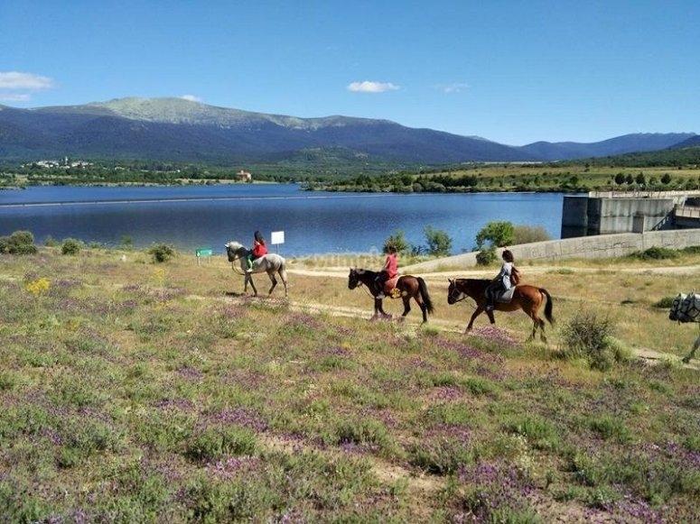 Excursión a caballo en La Granja de San Ildefonso
