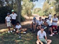 descanso en clase de golf