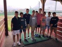 Studenti nelle lezioni di golf del campo forenex