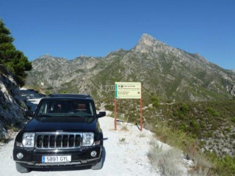 Sierra de Almijara的中心位于4x4