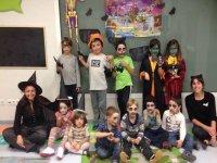 Grupo en Halloween
