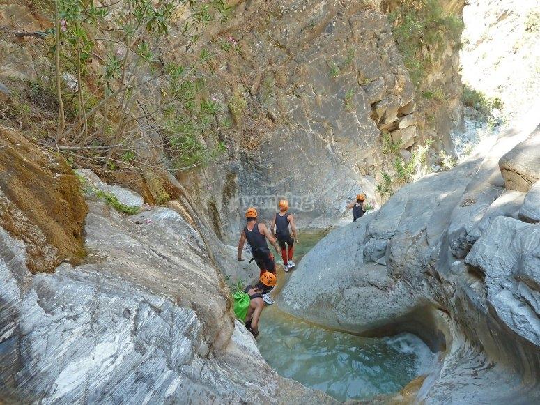 Canyoning in la Sierra of Tejeda