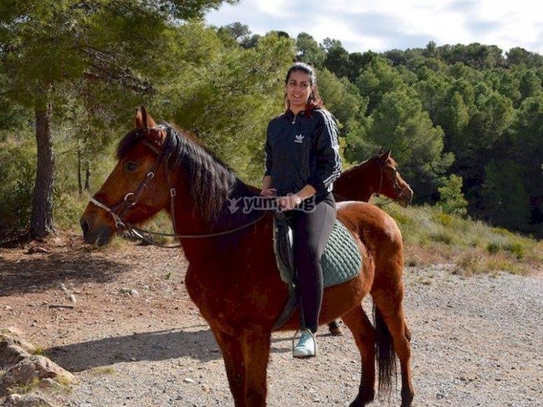 Haz un bonito paseo a caballo por la zona de Vilamarxant