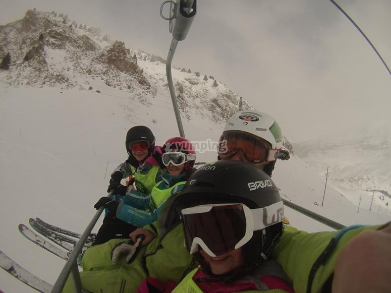 On the chairlift