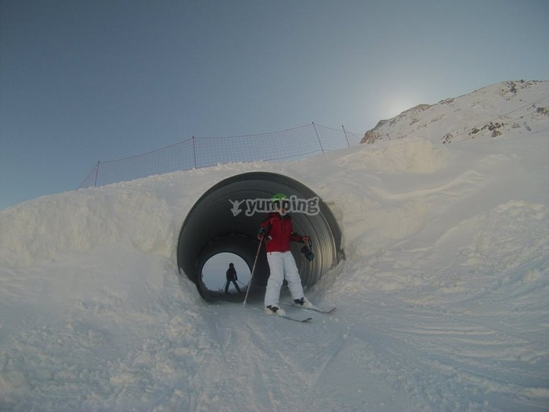 Tunnel in the snow