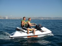 Smile whilst jet skiing