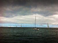 Navegando en La Rioja en un día nublado