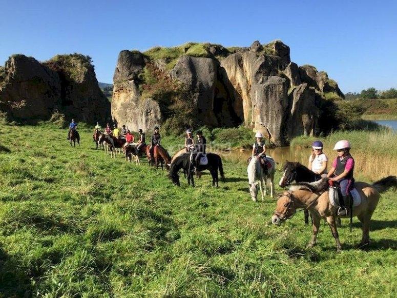 Ruta a caballo en Trapagarán