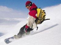Goditi la neve nella Sierra Nevada