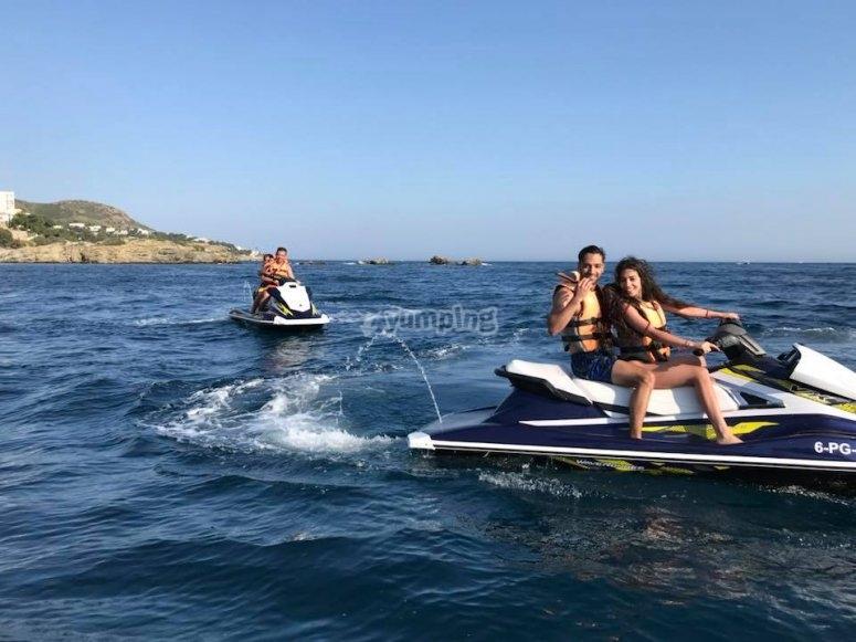A bordo della moto d'acqua
