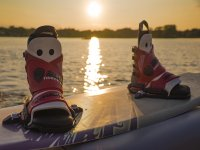 Wakeboarding and the sunset