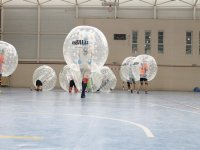 Jugando a bubble football
