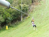 in the zip line