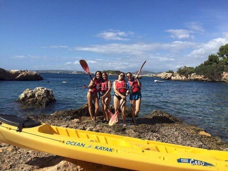 Navega en kayak y haz snorkel en Illetes