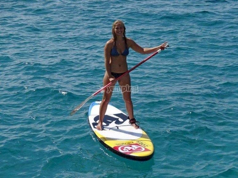 Alquila una tabla de paddle surf en Santa Ponsa