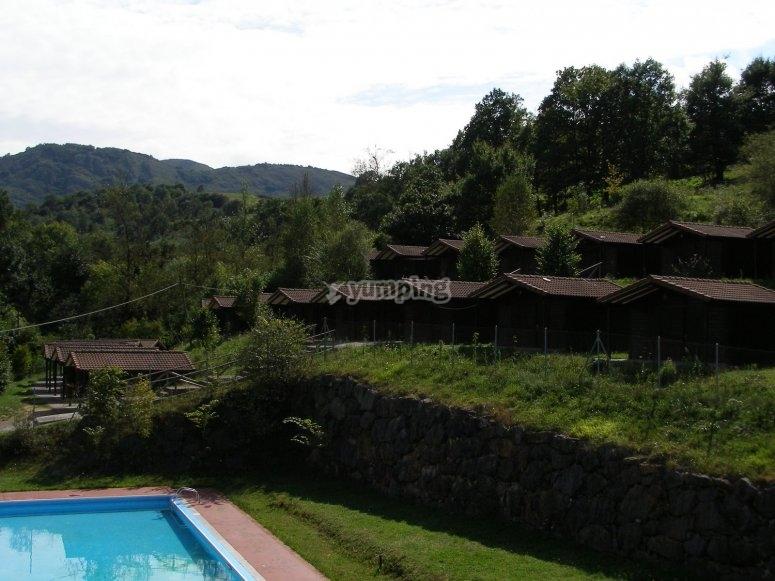 游泳池和景观