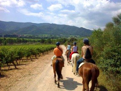 在Poblet骑马,2小时