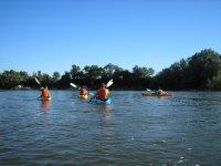 palistas siguiendo el rio