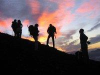 Un alto en la ascensión al Osorno