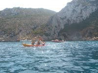 Canoe and inflatable boat