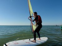 At sea windsurfing