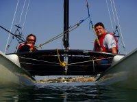 Navegando con el catamaran