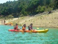 Girls in the canoe