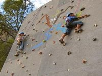 Scale in our climbing wall