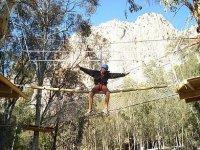 Zip-lines and suspension bridges in El Chorro