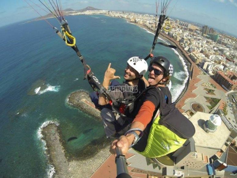 滑翔伞海岸加那利岛加那利群岛