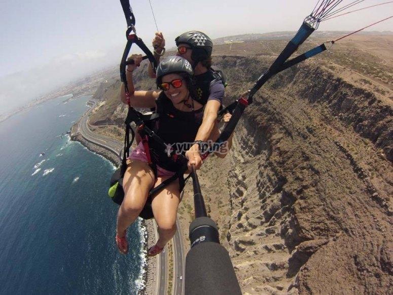 在大西洋滑翔伞
