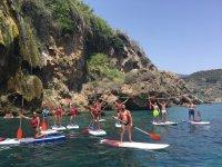 Escursione di paddle surf scogliere di Nerja