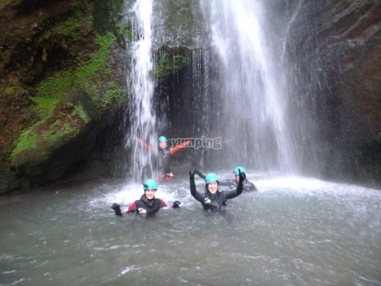 Speleo-canyoning session