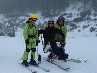Sciare per persone su sedia a rotelle
