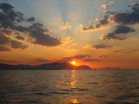 比斯开湾日落