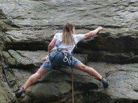 攀登比斯开比斯开攀岩课程学爬