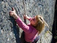 Inizia l'arrampicata