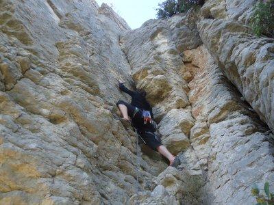 Escalada deportiva en la Serra Grossa