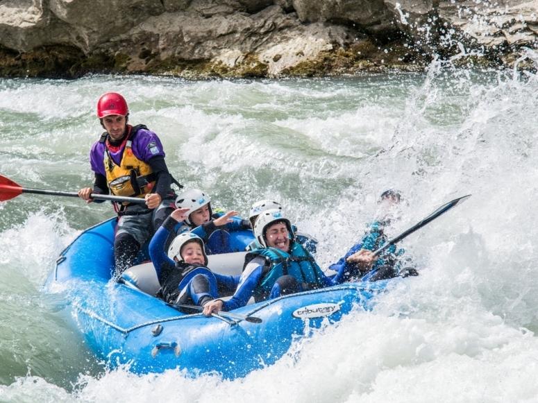 Rafting en familia