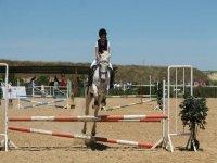 Saltando con el caballo
