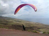 We begin the paragliding